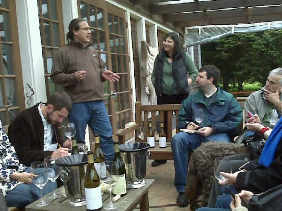 Christopher Tracy and Allison Dubin lead our final tasting during TasteCamp East